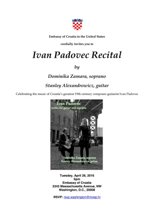 Ivan Padovec Recital & Reception